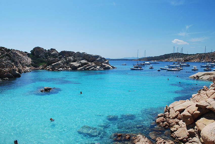 Caprera parece una piscina natural, Caprera (Italia)
