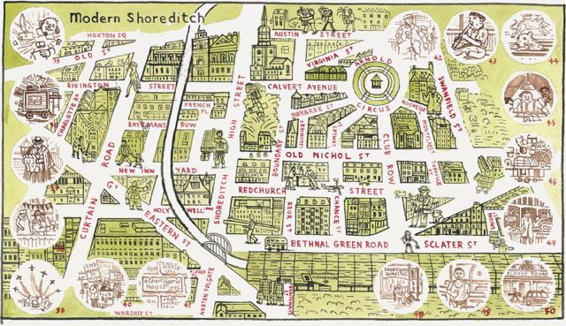 Map of Shoreditch